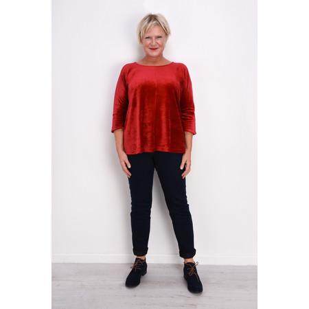 Mama B Padova Velvet Top - Red