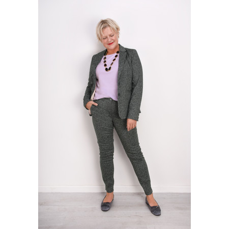 Sandwich Clothing Leopard Print Trousers - Grey