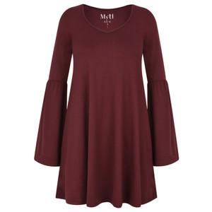 Myti by Myrine Wide Sleeve Jersey Crepe Top