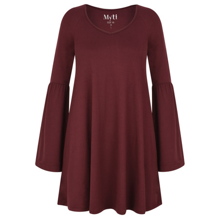 Myti by Myrine Wide Sleeve Jersey Crepe Top - Red