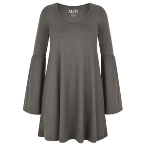 Myti by Myrine Wide Sleeve Jersey Crepe Top