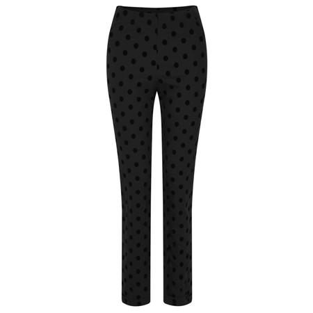 Myti by Myrine Big Dot Print Comfort Trousers - Black