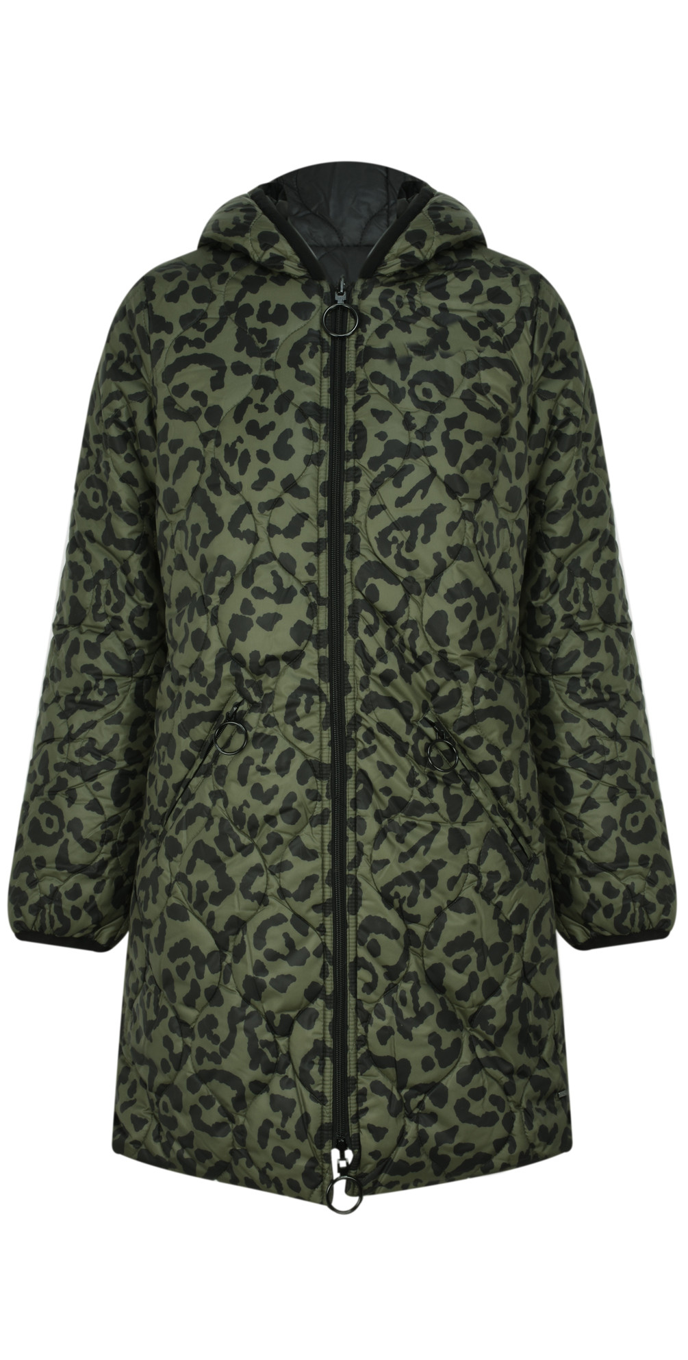 532bfa7a2617 RINO AND PELLE Reversible Animal Print Quilted Arizona Coat in ...