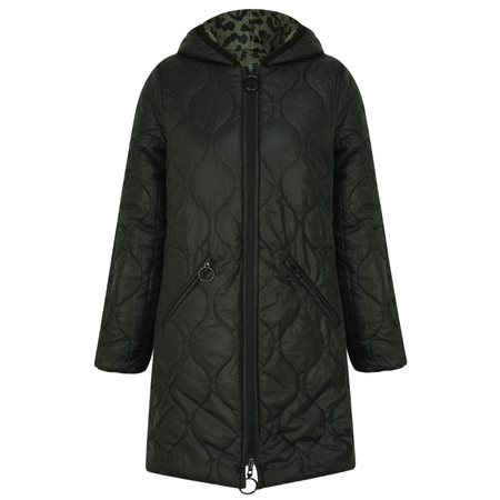 RINO AND PELLE Animal Print Outerwear Arizona Parka - Green