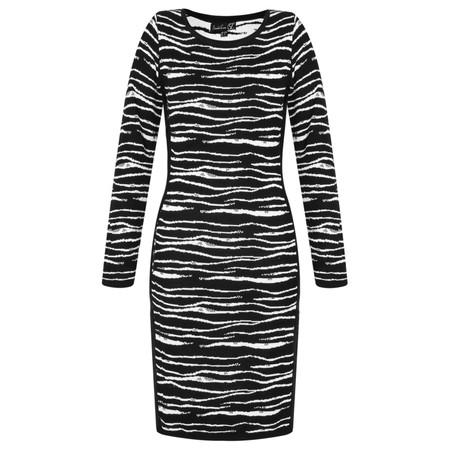Smashed Lemon Side Panel Zebra Print Dress - Black