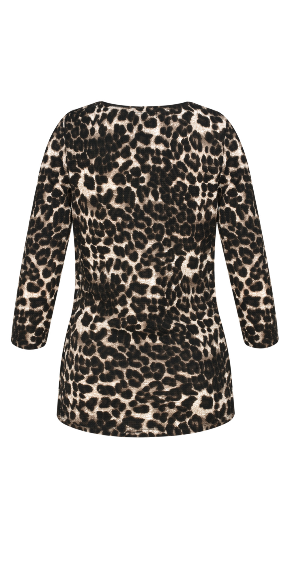 Animal Print Wrap Top main image