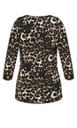 Animal Print Wrap Top additional image