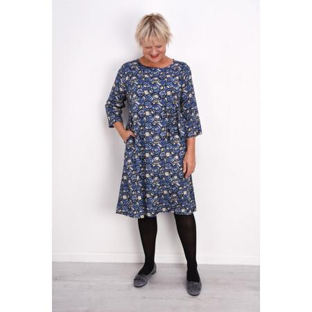 Masai Clothing Nonie Abstract Circle Print Dress - Blue