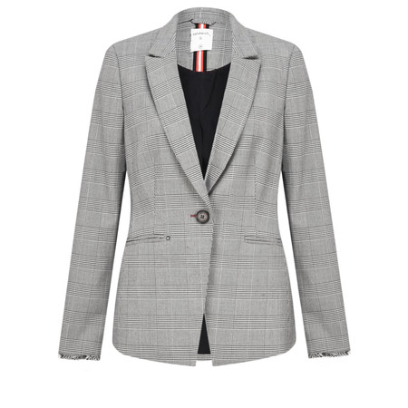 Sandwich Clothing Checked Blazer Jacket - Grey
