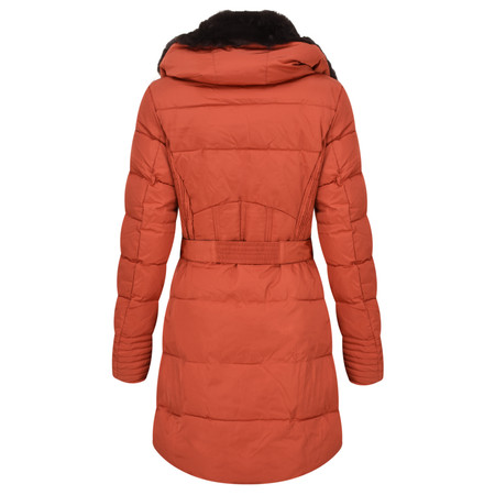 RINO AND PELLE Quilted Blush Coat - Red