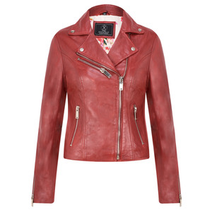 RINO AND PELLE Ghost Biker Style Leather Jacket