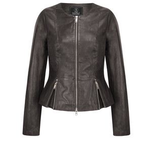 RINO AND PELLE Zip Front Leather Rayla Jacket