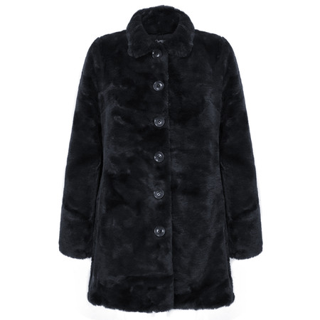 RINO AND PELLE Faux Fur Nonna Coat - Blue