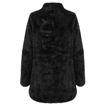 RINO AND PELLE Faux Fur Nonna Coat - Black