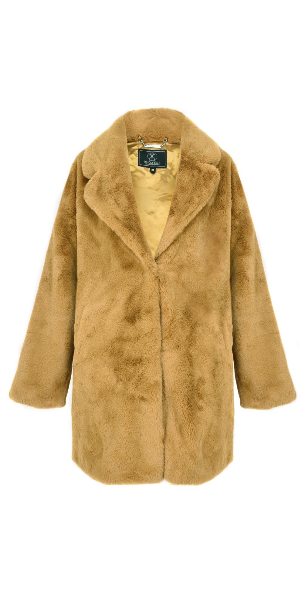18ee565dc Mustard Faux Fur Joela Coat