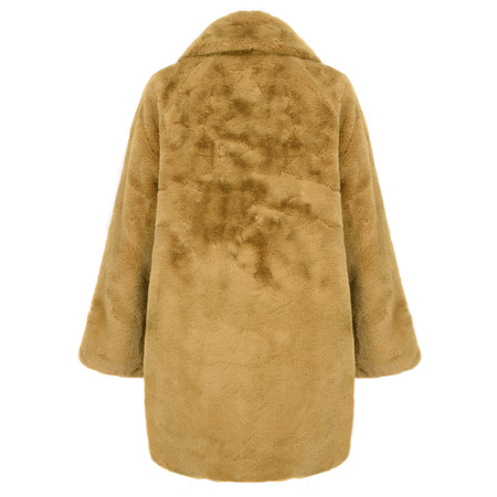 RINO AND PELLE Faux Fur Joela Coat - Yellow
