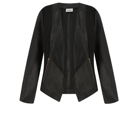 Thing Waterfall Leather Jacket - Black