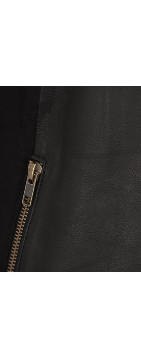 Thing Waterfall Leather Jacket Black
