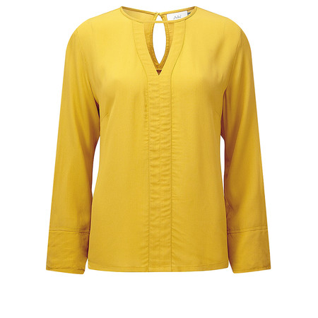 Adini Cara Crepe Suzanne Blouse - Yellow