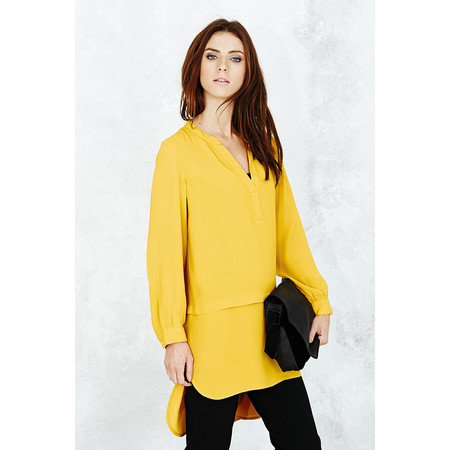 Adini Cara Crepe Louise Tunic - Yellow