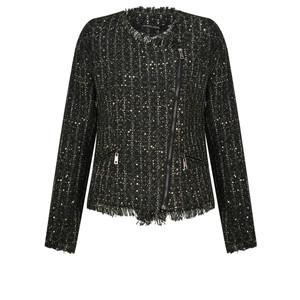 Lauren Vidal Clyde Biker Style Tweed Jacket