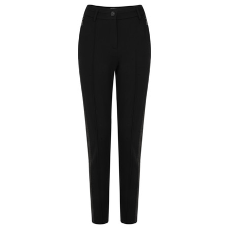 Robell Trousers Eva Plain Stripe Full Length Trouser - Black