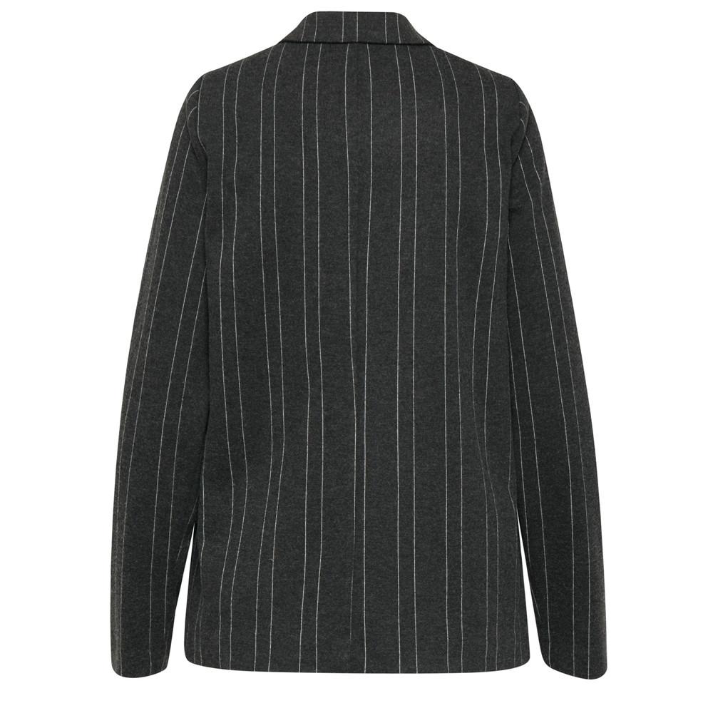 ICHI Kate Brushed Jacket Dark Grey Mel