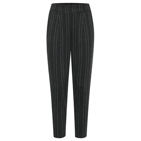 ICHI Kate Brushed Slim Leg Trouser - Black