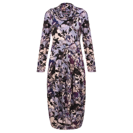 Sahara Shadow Flower Print Dress - Multicoloured