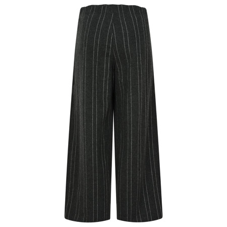 ICHI Kate Brushed Culotte Trouser - Black