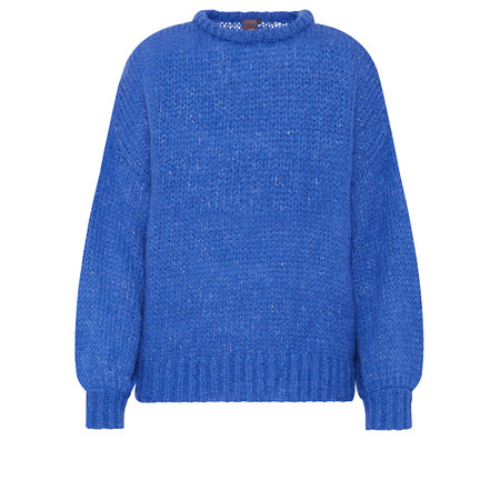 ICHI Ines Chunky Knit Jumper - Blue