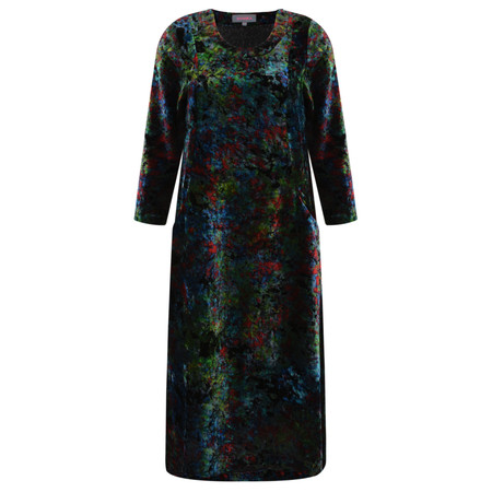 Sahara Colourburst Print Velvet Dress - Multicoloured