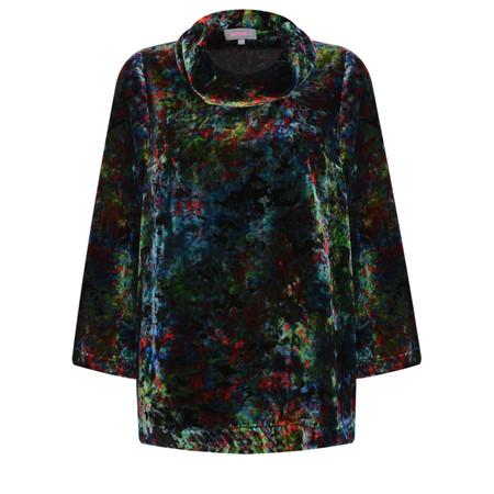 Sahara Colourburst Print Velvet Top - Multicoloured