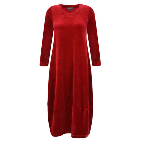 Sahara Velvet Jersey Bubble Dress - Red