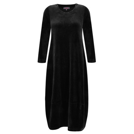 Sahara Velvet Jersey Bubble Dress - Black