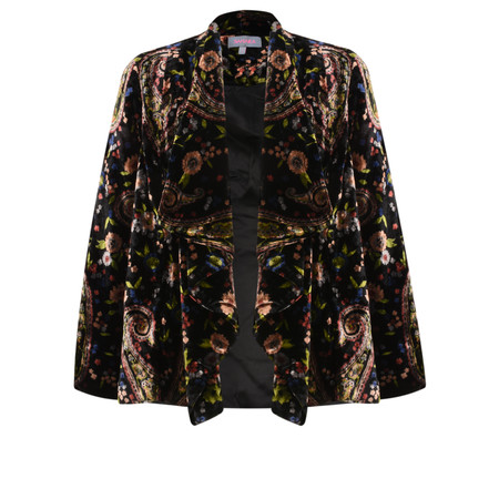 Sahara Paisley Flower Velvet Jacket - Multicoloured