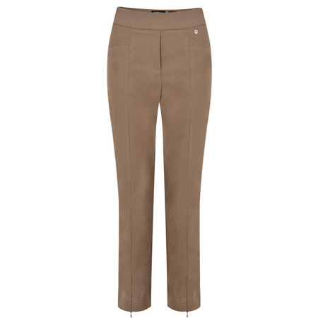Robell Trousers Nena 09 Stretch Ankle Length Trouser - Beige