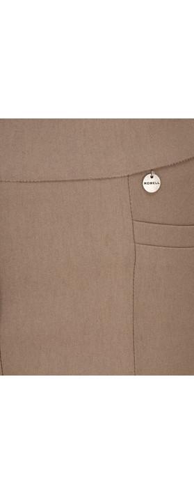 Robell  Nena 09 Stretch Ankle Length Trouser Dark Taupe