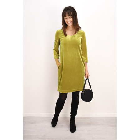 Myti by Myrine Plain Velvet Dress - Green