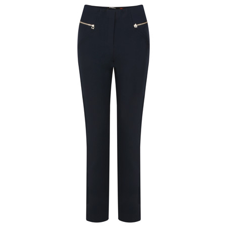 Robell Trousers Mimi Plain Full Length Trouser - Blue