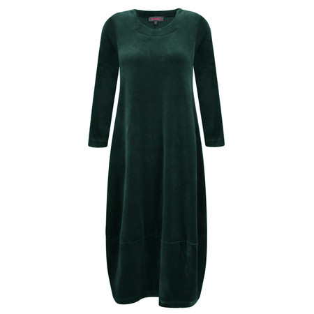 Sahara Velvet Jersey Bubble Dress - Green