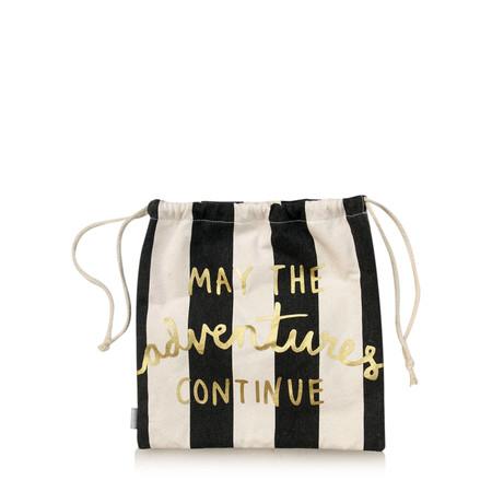 Caroline Gardner Metallic Stripe Bikini Bag - Black