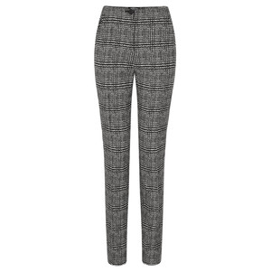 Robell Trousers Holly Smart Check Full Length Trouser
