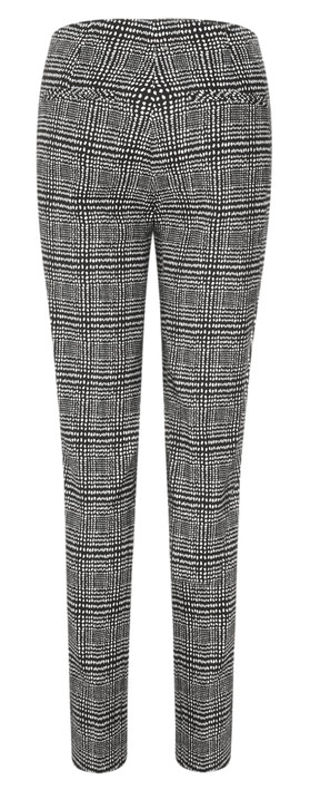 Robell Trousers Holly Smart Check Full Length Trouser Black/White