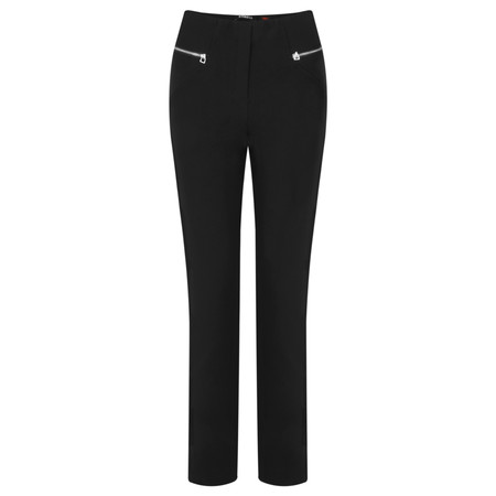 Robell Trousers Mimi Plain Full Length Trouser - Black