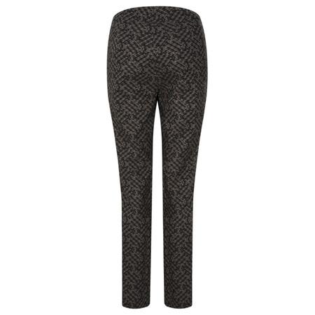 Robell Trousers Mimi Diamond Print Full Length Trouser - Beige