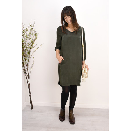 Sandwich Clothing Viscose Twill Shift Dress - Green