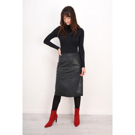 Sandwich Clothing Waxy Leather Skirt - Blue
