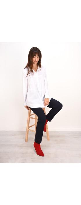 Robell Trousers Marie Bengalin Full Length Trouser Navy