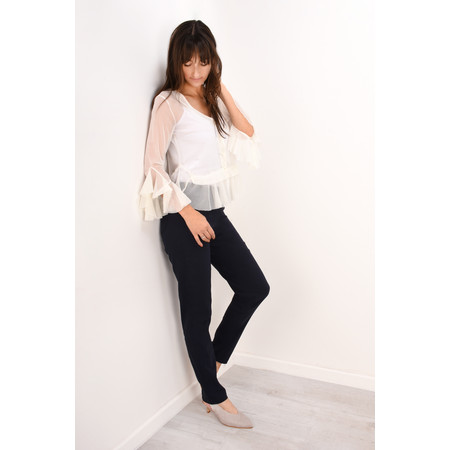 Robell Trousers Bella 78cm Slim Full Length Trouser - Blue